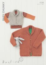 Hayfield Baby Chunky - 4598 Cardigan & Gilet Knitting Pattern